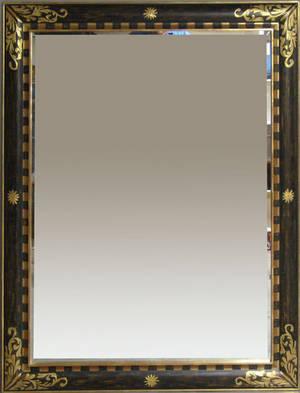 Large gilt and ebonized mirror