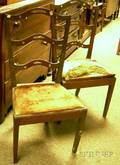 Pair of Federalstyle Pierced Walnut Ribbonback Side Chairs