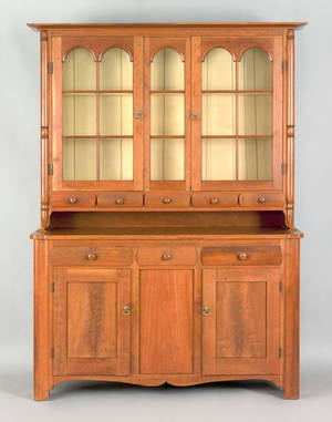 Pennsylvania walnut Dutch cupboard ca 1830