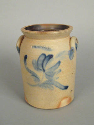 Harrisburg Pennsylvania stoneware crock 19th c