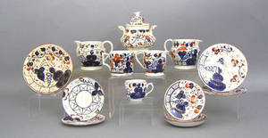 Group of Gaudy Welsh porcelain
