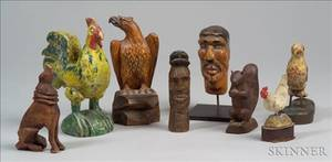 Nine Assorted Small Figures