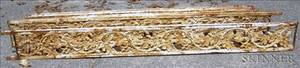 Group of Ten Victorian White Painted Cast Iron Panels with Oak Leaf and Acorns