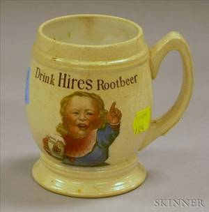 Villeroy  Boch Transfer Decorated Drink Hires Rootbeer Promotional Stoneware Mug