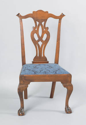 Delaware Valley Chippendale walnut dining chair ca 1770