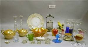 Large of Lot of Assorted Decorative Glass and Ceramic Tableware and Items