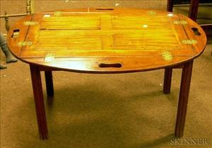Georgianstyle Mahogany Butlers Tray Table