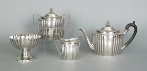 New York four piece silver tea service ca 1800