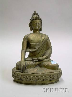 Bronze Seated Buddha Figure