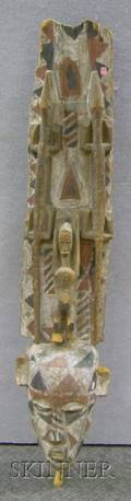 African Plank Polychrome Mask and Board