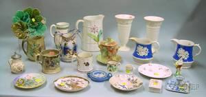 Approximately Twentythree Pieces of Assorted Decorated Ceramics
