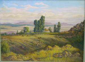 20th Century Oil on Canvas South Africa Landscape