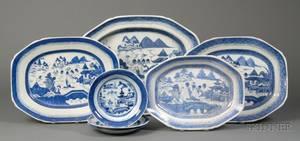 Eight Canton Porcelain Tableware Items