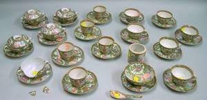 Group of 19th Century Chinese Export Rose Medallion Porcelain Tableware