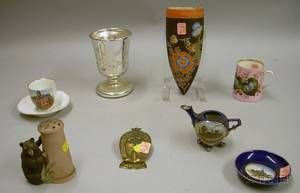Group of Assorted Late 19thEarly 20th Century Collectible and Decorative Glass and Ceramic Items