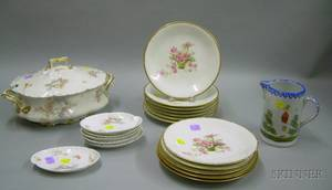 Group of Assorted Decorated Porcelain and Pottery Tableware