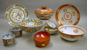 Group of Assorted Asian and Continental Porcelain Tableware and Decorative Items