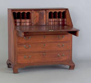 Pennsylvania Chippendale walnut slant front desk ca 1770