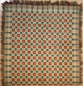 American coverlet dated 1824