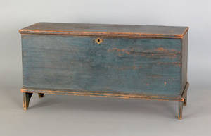 New England painted pine blanket chest late 18th c