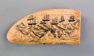 Important scrimshaw whale tooth early 19th c