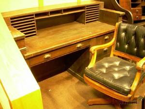 Early 20th Century Neoclassical Oak Clerks Desk