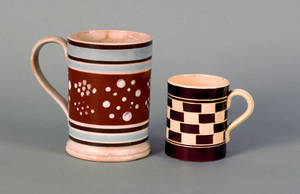 Two mocha mugs 19th c
