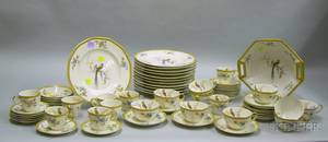 Sixtyfive Piece Haviland Limoges Eden Pattern Porcelain Partial Dinner Set