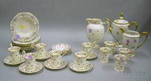 Twentynine Pieces of Continental and English Porcelain Tableware