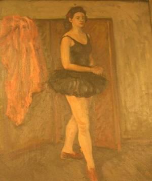 Framed Oil of a Ballerina