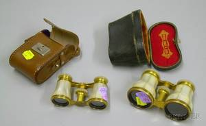 Two Pairs of Motherofpearl Opera Glasses