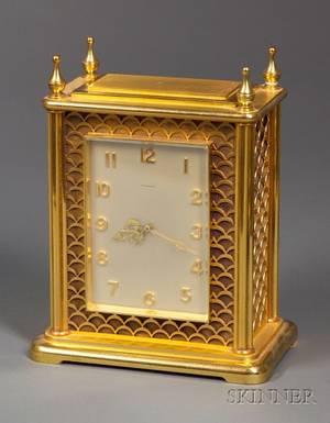 Swiss Brass Desk Clock