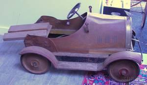 Painted Pressed Metal Roadster Pedal Car