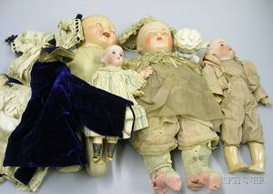 Group Lot of Dolls and Miscellaneous Costumes