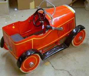 Leeway Painted Steel MG Pedal Car