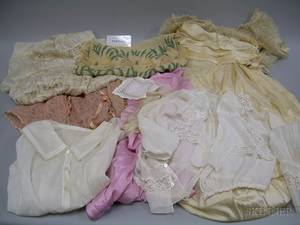 Lot of Assorted Victorian and Later Whites and Other Clothing