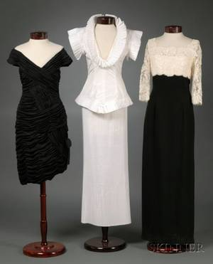 Three Pieces of Designer Evening Wear