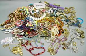 Three Bags of Assorted Vintage to Modern Costume Jewelry and Assorted Estate Jewelry