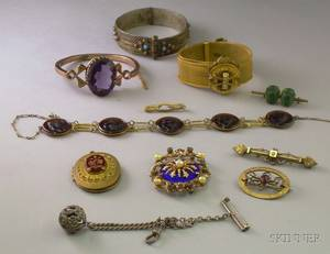 Assortment of Antique and Vintage Costume Jewelry