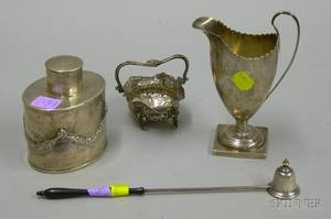 Four Pieces of Continental Sterling Silver and Silver Plate Items