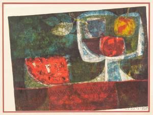 Sunol Alvar Spain b 1935 Still Life with Fruit