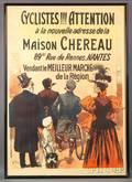Charles Tichon French 19th20th Century Cyclistes Attention a la Nouvelle Addresse de la Maison Chereau