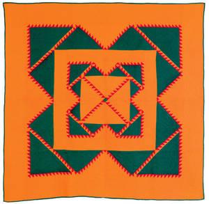 Mennonite pieced quilt ca 1900