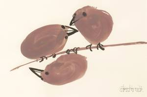 Juliet Kepes American 19191979 Three Birds