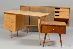 Three Pieces of Paul McCobb Furniture