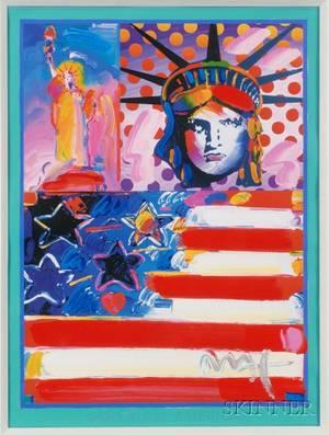 Peter Max American b 1937 God Bless America II