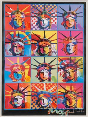 Peter Max American b 1937 Liberty and Justice for All