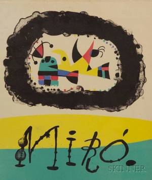 Joan Miro Spanish 18931983 Front cover for Joan Miro par Jacques Prevert