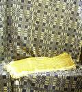 Threecolor Woven Wool and Cotton Coverlet and a Blue and White Wool and Cotton Coverlet