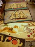 Four Assorted Hooked Rugs